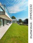 architecture  modern white... | Shutterstock . vector #294922232