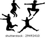 young man and woman  jumping... | Shutterstock . vector #29492410