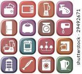 kitchen home appliances   Shutterstock .eps vector #29492671