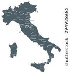 italy map | Shutterstock .eps vector #294928682