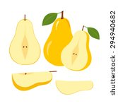 ripe juicy pear fruit and... | Shutterstock .eps vector #294940682