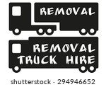removal vector transport trucks ... | Shutterstock .eps vector #294946652
