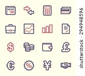 finance web icons set | Shutterstock .eps vector #294948596