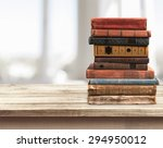 books  old  stacked. | Shutterstock . vector #294950012