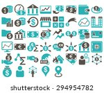 business icon set. these flat... | Shutterstock .eps vector #294954782
