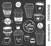 "Vector ""coffee Time"" Set...."