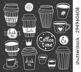 "vector ""coffee time"" set.... | Shutterstock .eps vector #294960608"