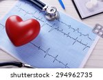 Cardiogram With Stethoscope An...