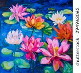 Original Oil Painting Lily...