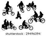 several different bicycle types ... | Shutterstock .eps vector #29496394