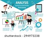business analysis data analysis ... | Shutterstock .eps vector #294973238