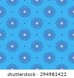 seamless pattern  blue and blue ... | Shutterstock .eps vector #294981422