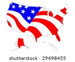 map of us with flag | Shutterstock .eps vector #29498455