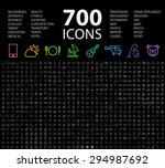 set of 700 minimal universal... | Shutterstock .eps vector #294987692