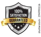 chrome 100  satisfaction... | Shutterstock .eps vector #294990116