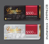 voucher template with premium... | Shutterstock .eps vector #294996158