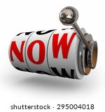 now word on slot machine wheels ... | Shutterstock . vector #295004018