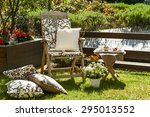 relaxing garden   Shutterstock . vector #295013552