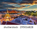 grand palace and wat phra keaw... | Shutterstock . vector #295016828