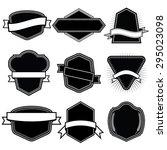 set of blank frame badges... | Shutterstock .eps vector #295023098