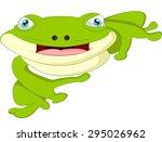 cartoon cute frog   Shutterstock .eps vector #295026962