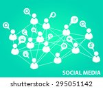 social media background | Shutterstock .eps vector #295051142