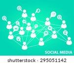 social media background | Shutterstock .eps vector #295051142