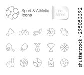 sport related icons set | Shutterstock .eps vector #295053392