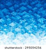 abstract geometric blue texture ... | Shutterstock . vector #295054256