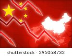 financial crisis in china red... | Shutterstock . vector #295058732