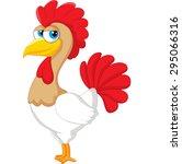 cute rooster cartoon posing | Shutterstock .eps vector #295066316