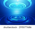 abstract circles technology... | Shutterstock .eps vector #295077686