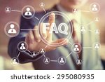 business button sign web faq... | Shutterstock . vector #295080935