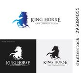 Stock vector king horse logo template 295084055