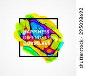 inspirational quote vector...   Shutterstock .eps vector #295098692