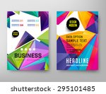abstract geometric vector... | Shutterstock .eps vector #295101485