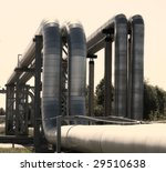 industrial pipelines on pipe... | Shutterstock . vector #29510638