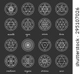 set of geometric shapes. trendy ... | Shutterstock .eps vector #295107026