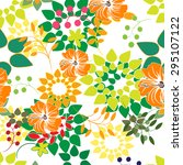 floral seamless pattern  ... | Shutterstock .eps vector #295107122