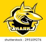 shark shield sport logo vector... | Shutterstock .eps vector #295109276