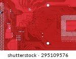 red circuit board texture... | Shutterstock . vector #295109576