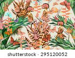 beautiful vintage seamless... | Shutterstock . vector #295120052