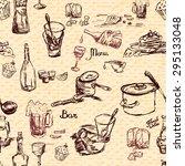 sketch style seamless pattern...   Shutterstock . vector #295133048