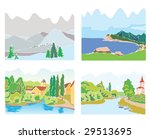 landscapes isolated part 3 | Shutterstock .eps vector #29513695