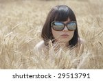 beautiful girl with sunglasses... | Shutterstock . vector #29513791