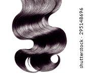 curly black hair over white | Shutterstock . vector #295148696