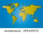 world map illustration vector... | Shutterstock .eps vector #295149572