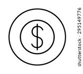 dollar  linear icon. one of a...