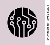 circuit board  icon. technology ... | Shutterstock .eps vector #295156076