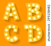 vector yellow lamp alphabet for ... | Shutterstock .eps vector #295158482